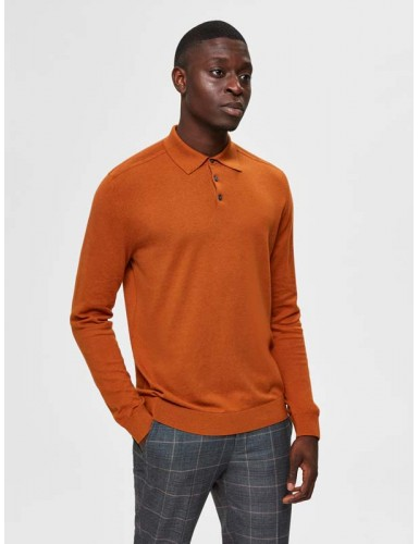 Pull col polo Selected orange